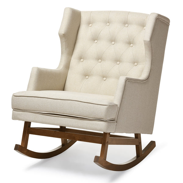 Felix Mid-Century Modern Fabric  Rocking Chair - living-essentials