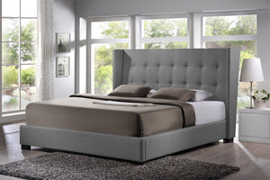 Fabian King Modern Bed With Upholstered Headboard