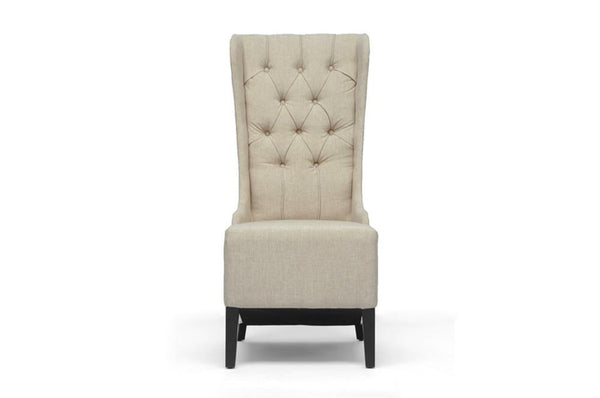 Verity Beige Linen Modern Accent Chair - living-essentials