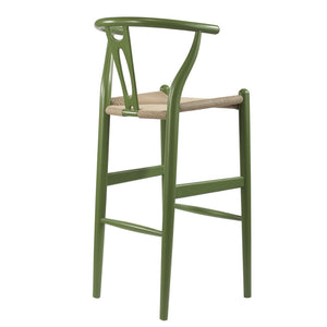 Wegner Style Wishbone Bar Chair - More Colors Dark Green Free Shipping