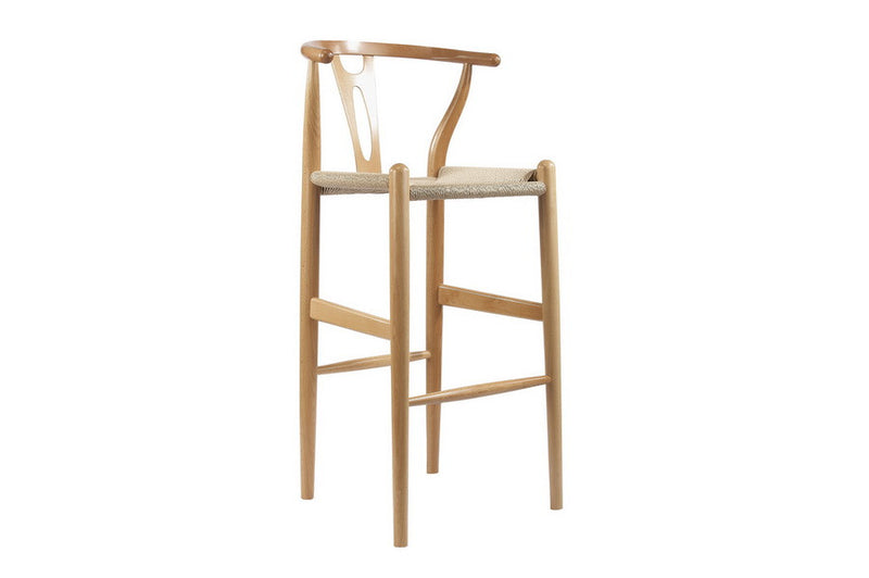 Wegner Style Wishbone Bar Chair - More Colors - living-essentials