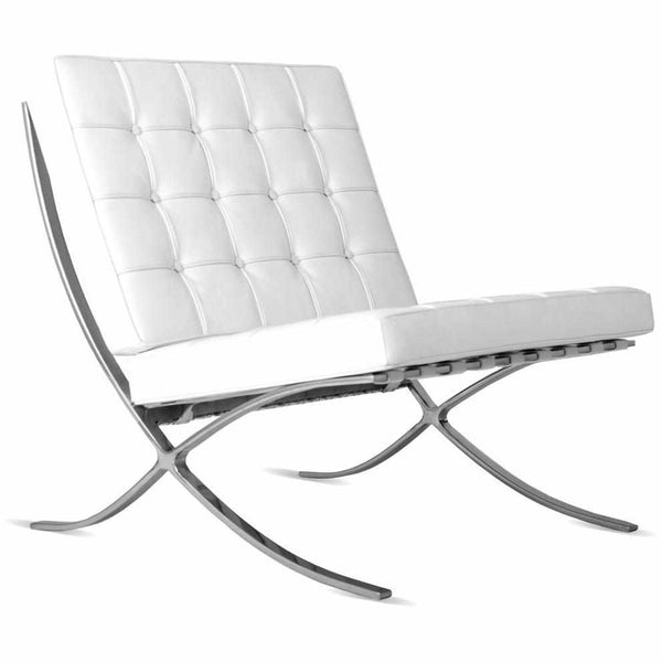 Barcelona Chair White barcelona chair replica. premium version. - emfurn