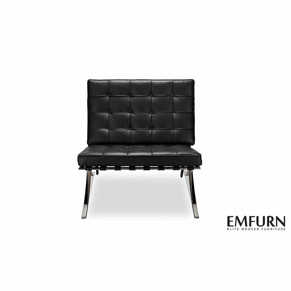 Barcelona Style Chair Black Chairs Free Shipping  sc 1 st  EMFURN & Mid-Century Modern Chairs - EMFURN