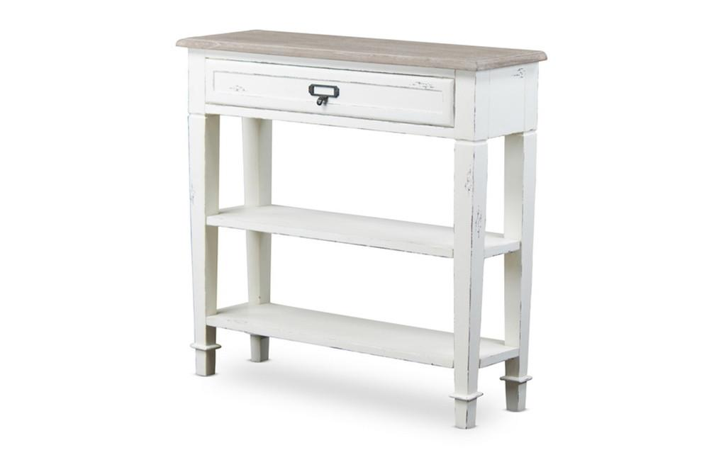 Uma Traditional Single Drawer French Accent Console Table Free Shipping