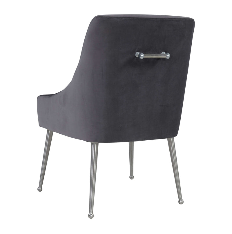 Beatrix Velvet Side Chair with Silver Leg - living-essentials