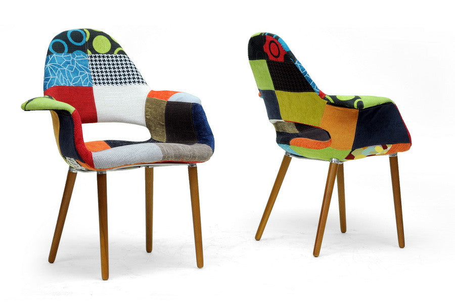 Funky Organic Dining Accent Chair Set Of 2 Emfurn