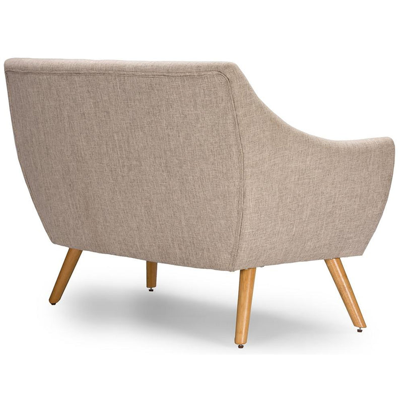 Adair Mid-century Beige Loveseat - living-essentials