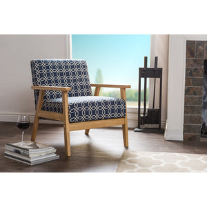 Paul Retro Mcm Navy Blue Armchair Chairs Free Shipping