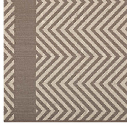 Opulence Chevron With End Borders 8x10 Indoor and Outdoor Area Rug - living-essentials