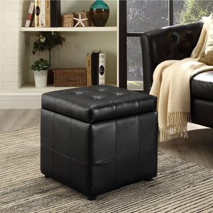 Spark Storage Ottoman Black Ottomans Free Shipping