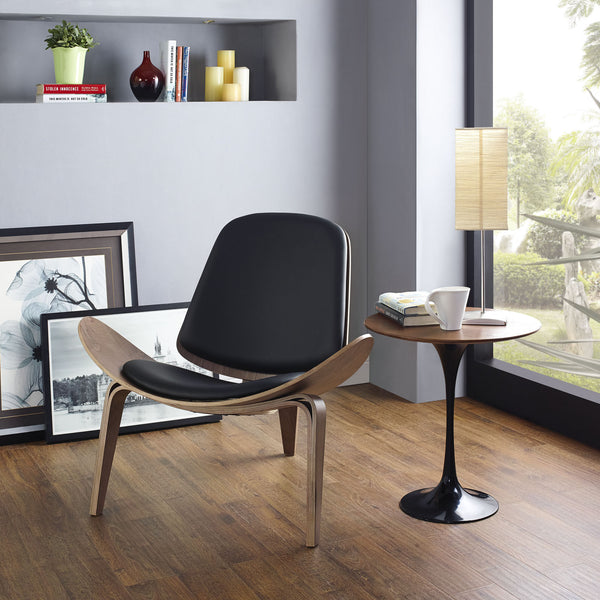 Hans J. Wegner Style Vinyl Shell Chair - living-essentials
