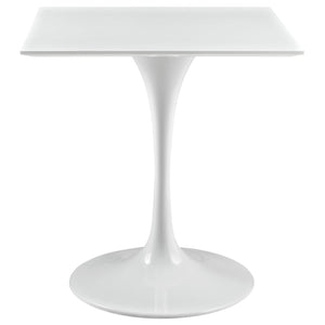 Tulip Style 28 Square White Top Dining Table Tables Free Shipping
