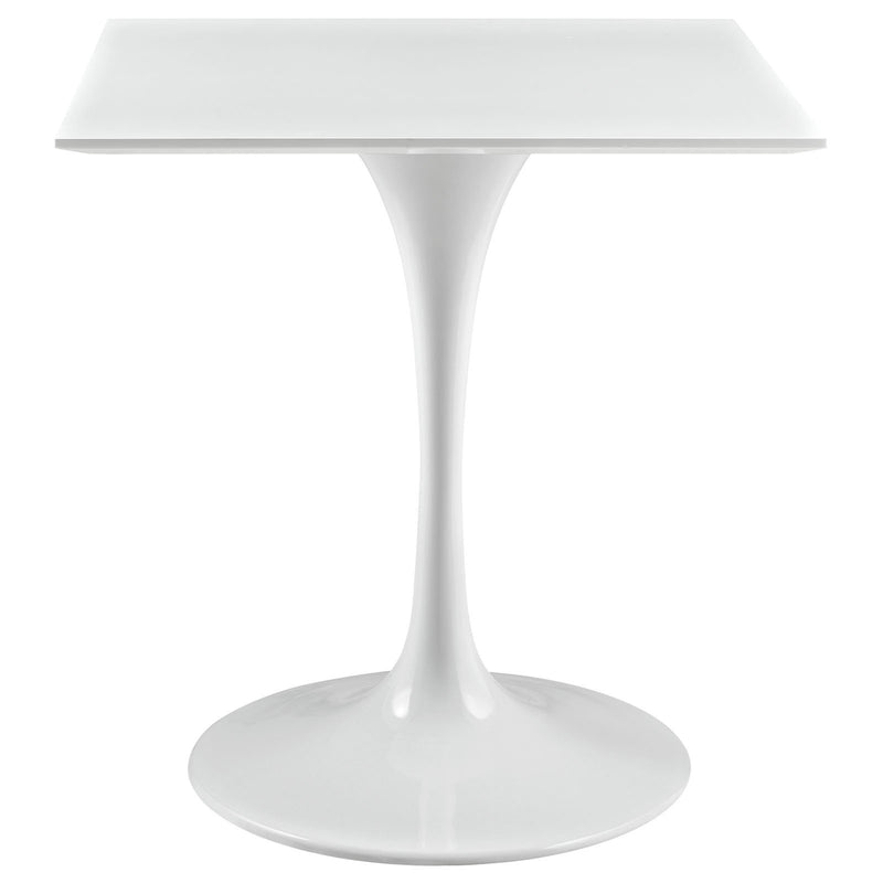 "Tulip Style 28"" Square White Top Dining Table - living-essentials"