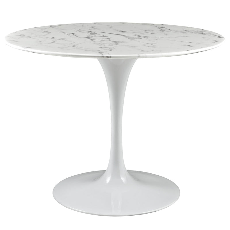 "Tulip Style 40"" Artificial Marble Dining Table - living-essentials"