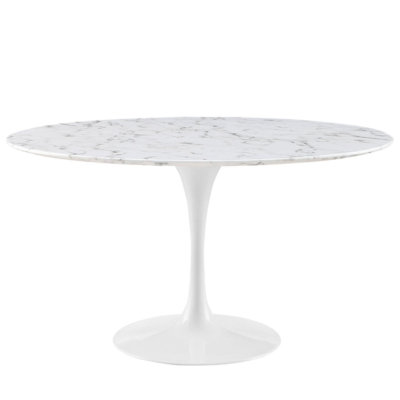"Tulip Style 54"" Marble Dining Table - living-essentials"