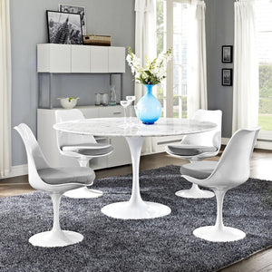Tulip Style 54 Marble Dining Table Tables Free Shipping