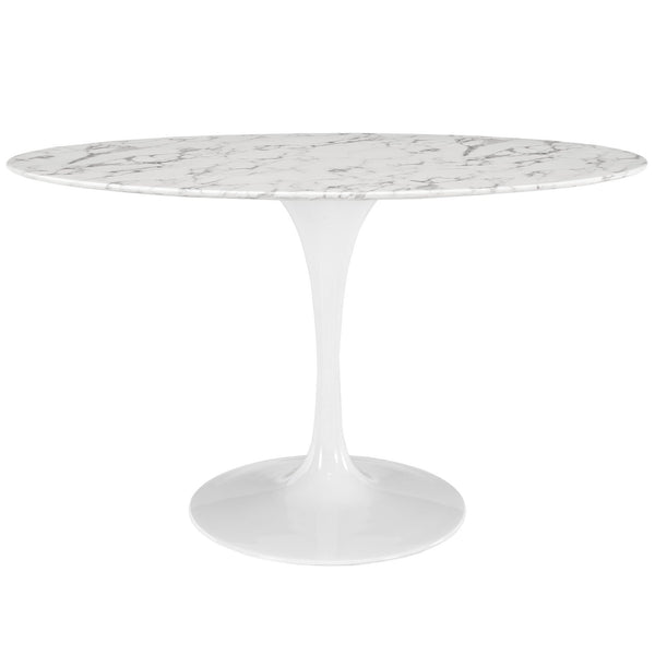 "Tulip Style 54"" Oval Marble Dining Table - living-essentials"