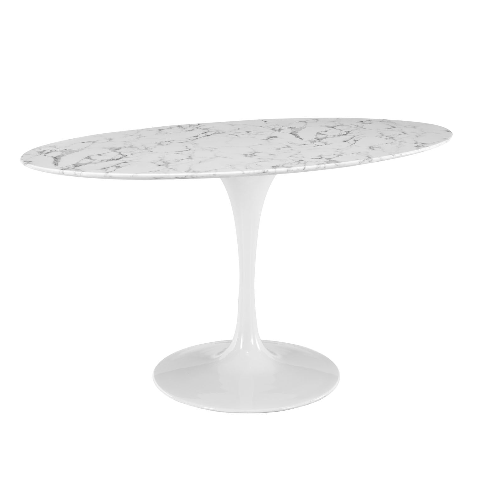 Oval marble dining table -  Tulip Style 60 Oval Marble Dining Table Emfurn 3
