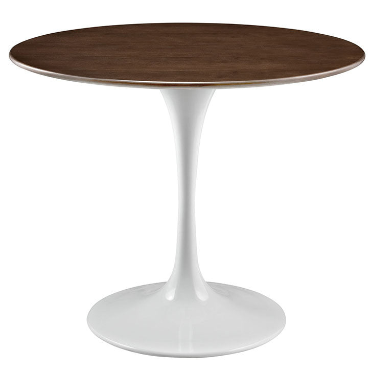 Tulip Style 36 Walnut Dining Table Free Shipping