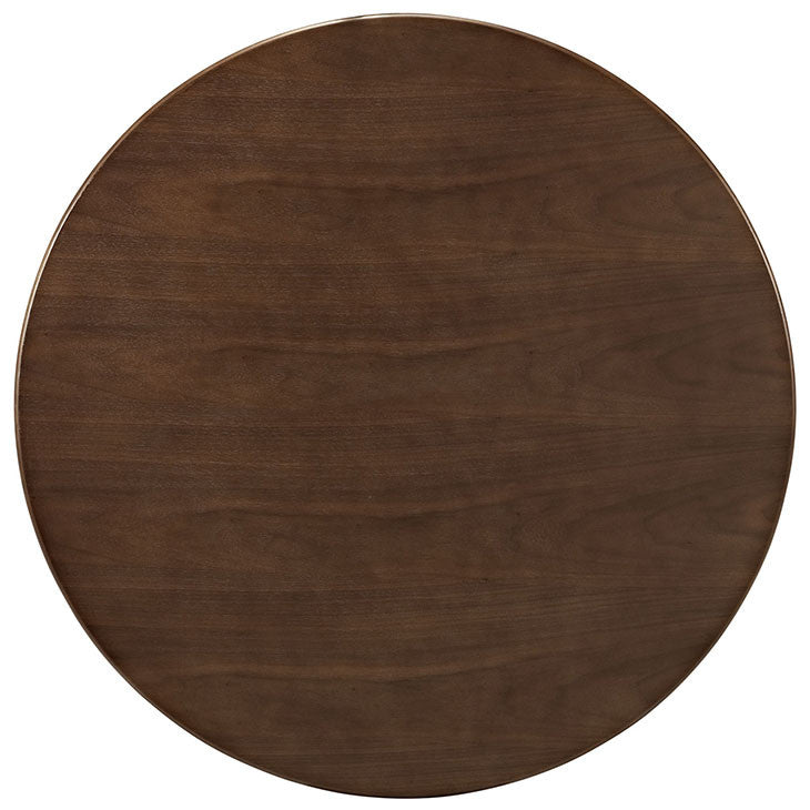 "Tulip Style 36"" Walnut Dining Table - living-essentials"