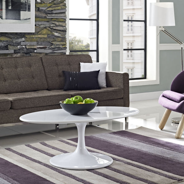 "Tulip Style 42"" Oval Coffee Table - living-essentials"