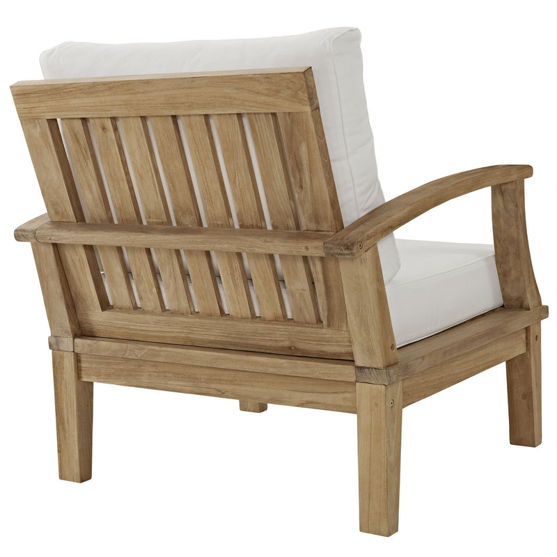 Marine Outdoor Patio Teak Armchair - living-essentials
