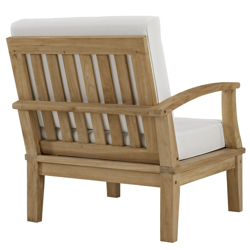 Marine Outdoor Patio Teak Right-Arm Chair - living-essentials