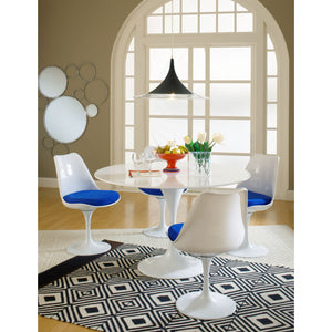 Tulip Style Dining Side Chair Set Of 2 Blue Chairs Free Shipping
