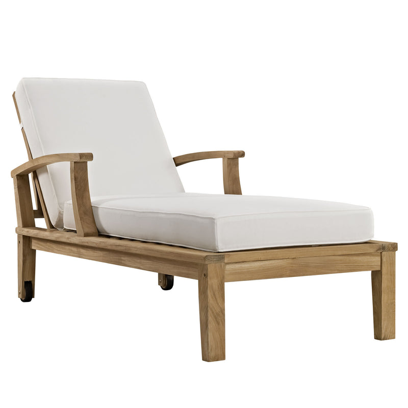 Marine Outdoor Patio Teak Chaise - living-essentials