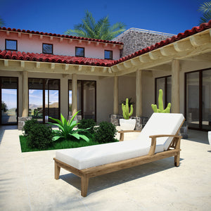 Marine Outdoor Patio Teak Chaise Furniture Free Shipping