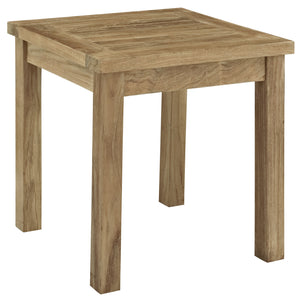Marine Outdoor Patio Teak Side Table Natural Furniture Free Shipping