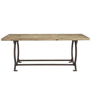 Diffuse Wood Top Cast Iron Dining Table Tables Free Shipping