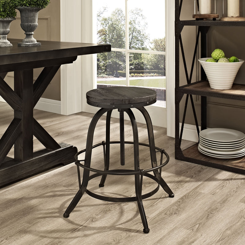 Assemble Wood Top Bar Stool - living-essentials