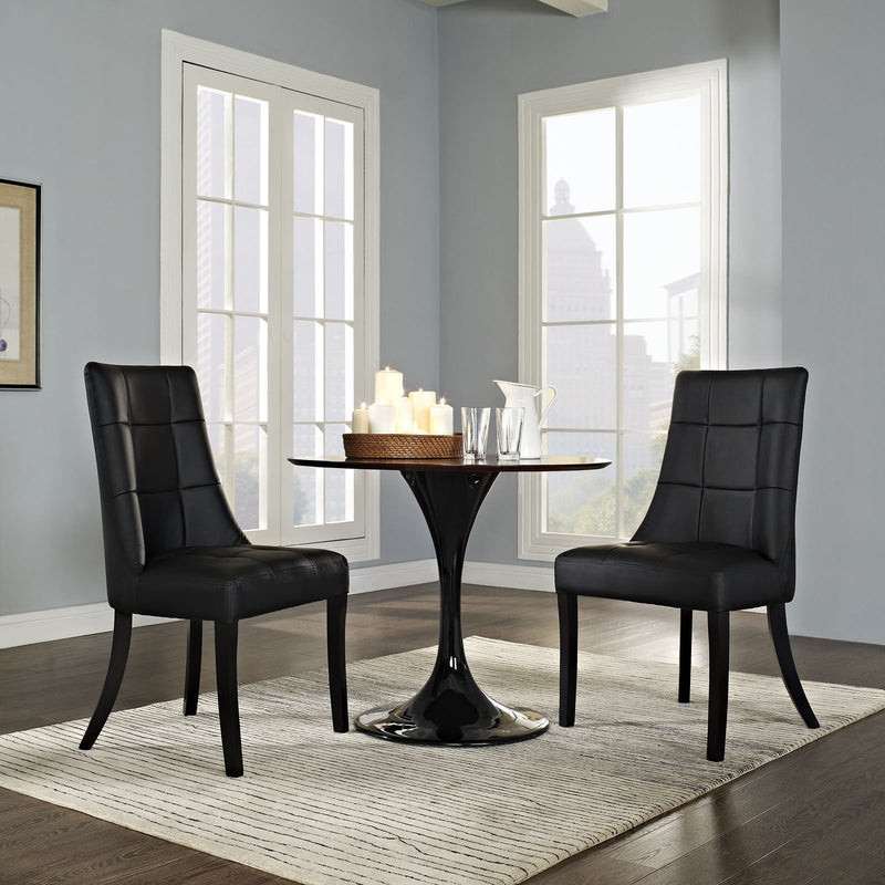 Majesty Vinyl Dining Chair Set of 2 - living-essentials