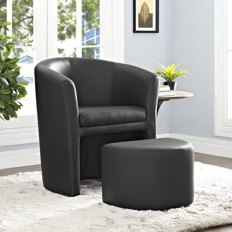 Diverge Chair & Ottoman - living-essentials