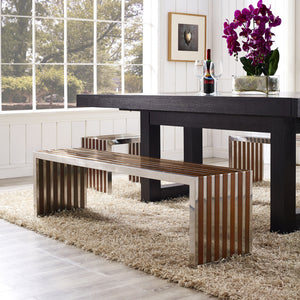Platform Large Wood Inlay Bench Benches & Daybeds Free Shipping