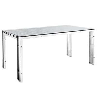 Cross Iron Stainless Steel Dining Table - living-essentials