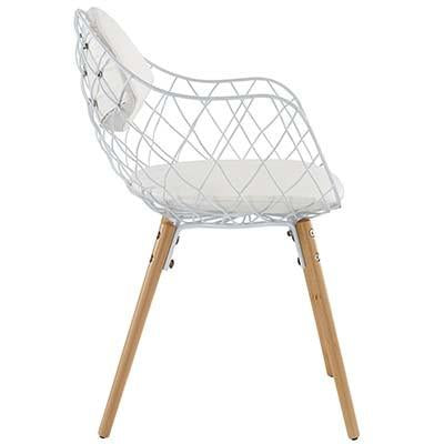 Hamper Dining Metal Armchair - living-essentials