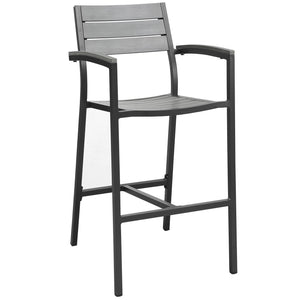 Morocco Outdoor Patio Bar Stool Brown Gray Free Shipping