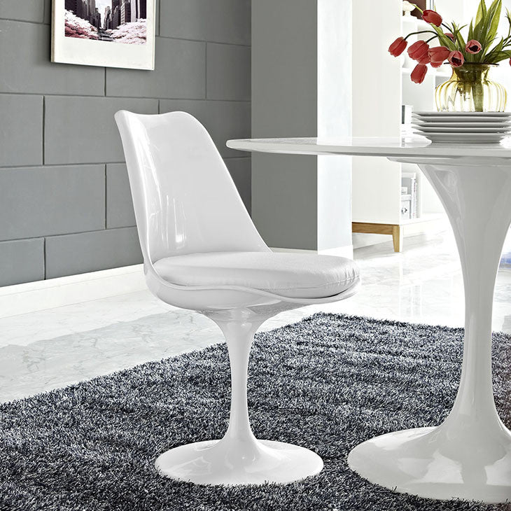 Tulip Style Dining Vinyl Side Chair - living-essentials