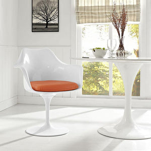 Tulip Style Dining Vinyl Armchair Chairs Free Shipping