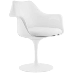 Tulip Style Dining Vinyl Armchair - living-essentials