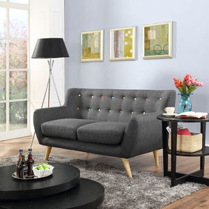Groovy Loveseat Gray Free Shipping