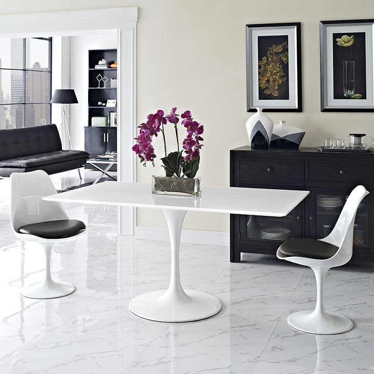 Tulip Style 60 Rectangle White Dining Table Free Shipping