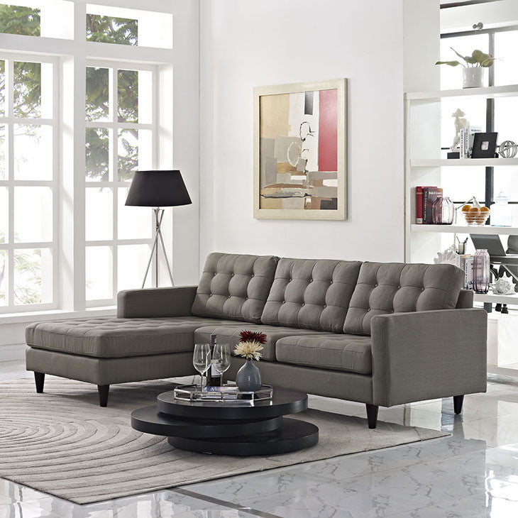 Empire left-arm Fabric Sectional Sofa - living-essentials