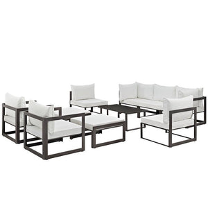 Alfresco 10 Piece Outdoor Patio Sectional Sofas Set Free Shipping