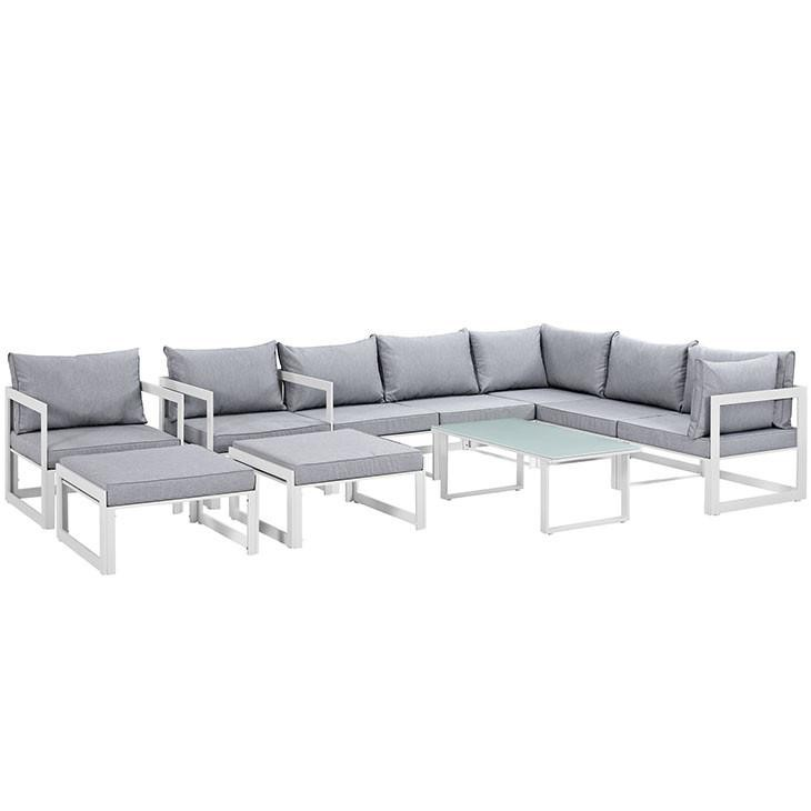 Alfresco 10 Piece Outdoor Patio Sectional Sofas Set - living-essentials