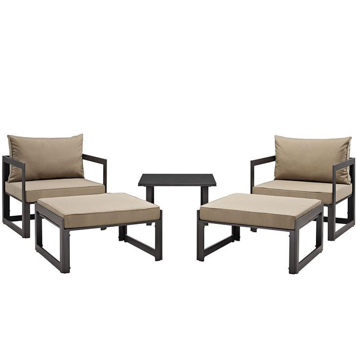 Alfresco 5 Piece Outdoor Chair U0026 Ottoman Set Chairs Free Shipping