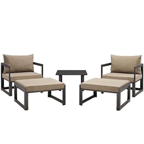 Alfresco 5 Piece Outdoor Chair & Ottoman Set - living-essentials