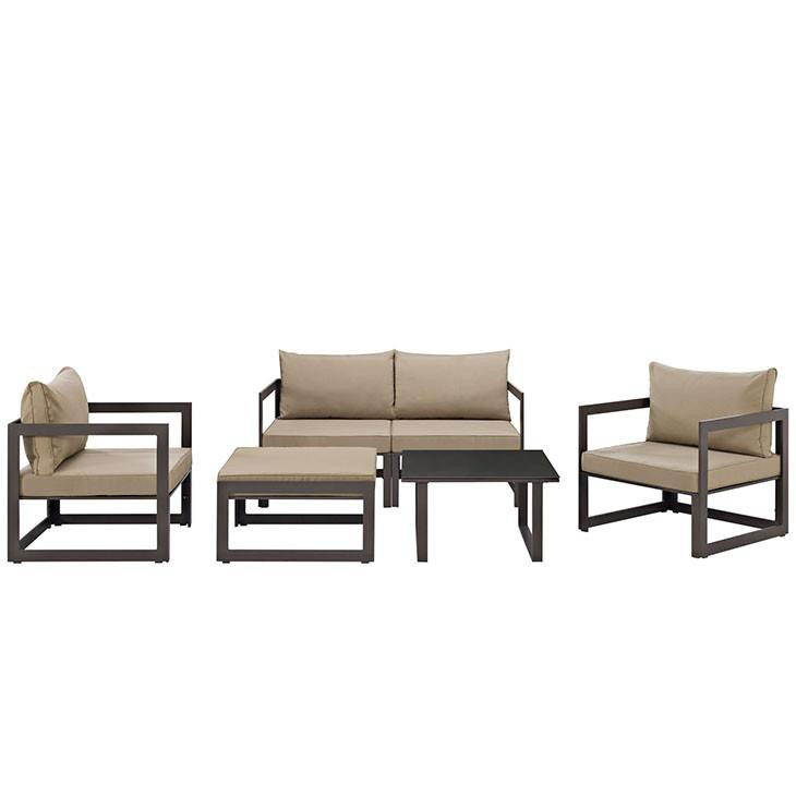 Alfresco 6 Piece Outdoor Patio Sectional Sofas Set Free Shipping